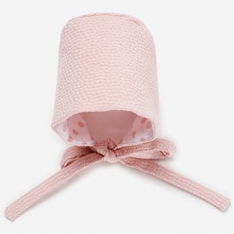 Woven Reversible Bonnet powder pink - Paz Rodríguez