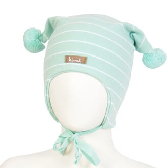Striped windproof hat mint - Kivat