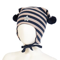 Windproof hat star striped navy/beige - Kivat