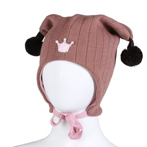 Joker hat crown dusty pink/dark brown - Kivat