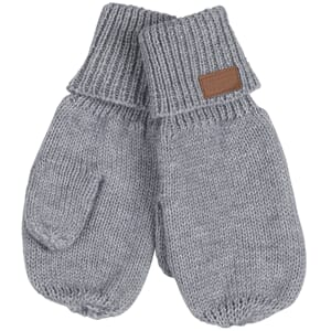 Wool Mittens Grey Melange - Melton