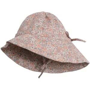 Baby Girl Sun Hat powder flowers - Wheat