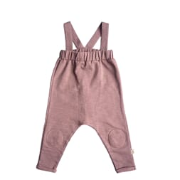 Ollie dungarees solid dark old pink - By Heritage