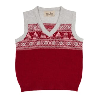 Chester Baby Vest Red - MeMini