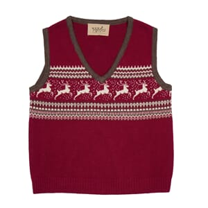 Donner baby vest  Red - MeMini