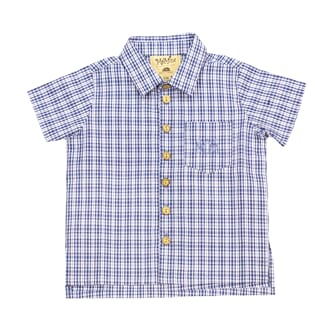 Tom Shirt blue checked (baby) - MeMini