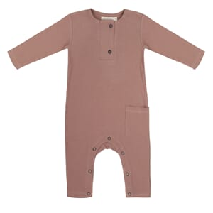 Rib henley jumpsuit powder - Phil & Phae