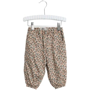 Trousers Malou ink flowers - Wheat