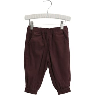 Trousers Lillie soft eggplant - Wheat