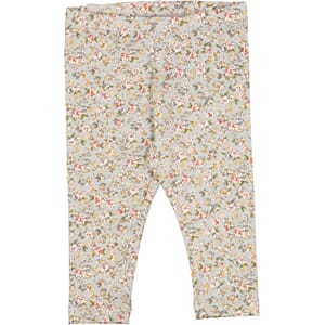 Jersey Leggings dusty dove flowers - Wheat
