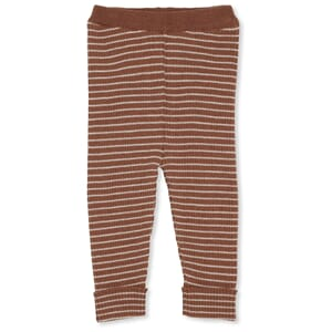 Meo Knit Pants striped toffee/beige - Konges Sløjd