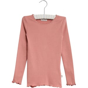 Rib T-Shirt Lace LS soft rouge - Wheat
