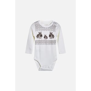 Baloo body med kaniner off white - Hust & Claire