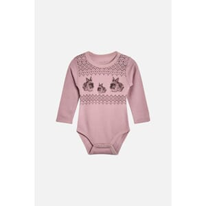 Baloo body med kaniner dusty rose - Hust & Claire