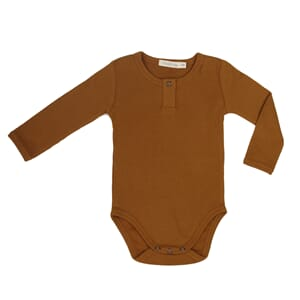 Rib henley body golden olive - Phil & Phae