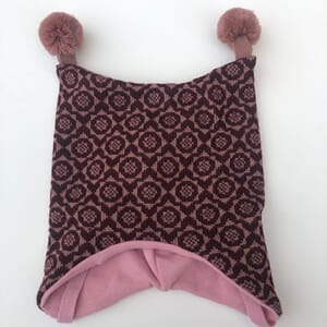 Flower hat aubergine/dusty pink - Kivat