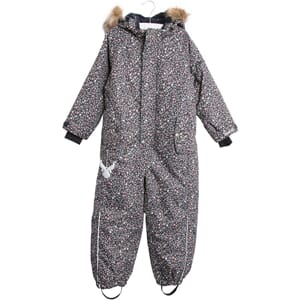 Snowsuit Moe navy flowers - Wheat