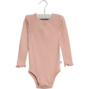 Body Rib Lace LS misty rose - Wheat