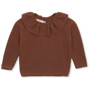 Fiol Collar Wool Knit Deux toffee - Konges Sløjd