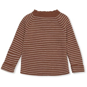 Meo Knit Blouse striped toffee/beige - Konges Sløjd