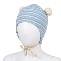 Striped baby hat blue/offwhite - Kivat