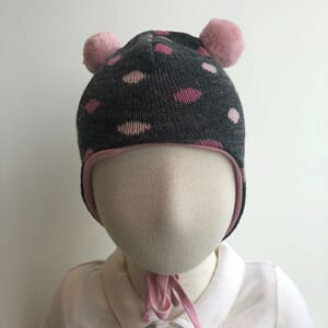 Baby hat dots warm pink - Kivat