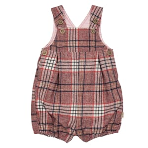 Nicholas checked romper fw19 Red Checked - MeMini