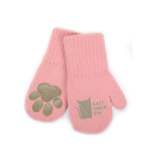 Long magic mittens rosa - Kattnakken