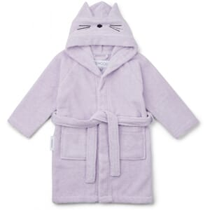 Lily bathrobe cat light lavender - Liewood