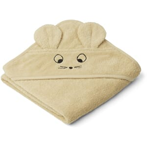 Albert hooded towel mouse wheat yellow - Liewood