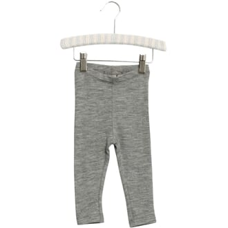 Wool Leggings melange grey - Wheat