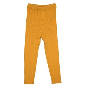 Patent baby leggings fw19 Apricot Yellow - MeMini