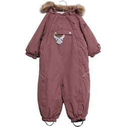Snowsuit Nickie plum - Wheat