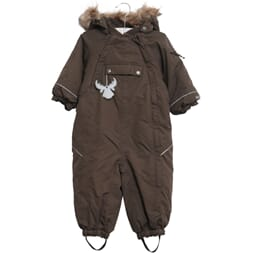 Snowsuit Nickie dark brown - Wheat