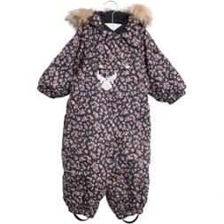 Snowsuit Nickie navy flowers - Wheat