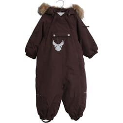 Snowsuit Nickie eggplant - Wheat