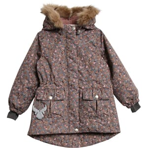 Jacket Mathilde Tech blue mirage flowers - Wheat