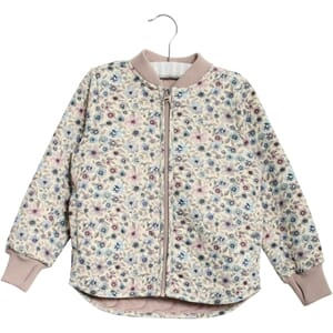 Thermo Jacket Loui eggshell watercolor flowers (baby)- Wheat