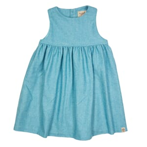 Melissa wool dress Ocean Blue - MeMini
