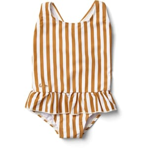 Amara swimsuit striped mustard/creme - Liewood