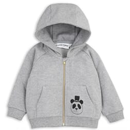 Basic Zip Hood grey melange - Mini Rodini