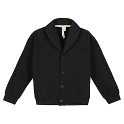 Shawl Collar Cardigan nearly black - Gray Label