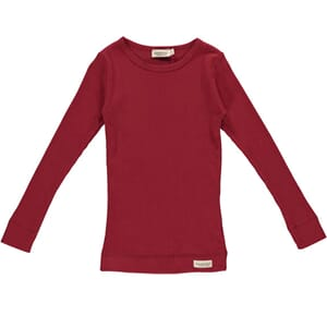 Plain Tee LS red - MarMar
