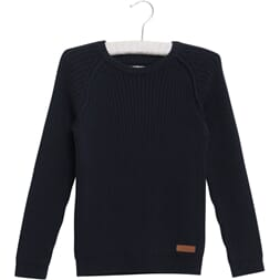 Knit Pullover Julius navy - Wheat