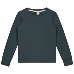 L/S Tee with Thumbhole blue grey - Gray Label