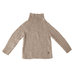 Rib Sweater pebble - Esencia