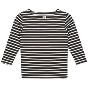 L/S Striped Tee Nearly Black/White - Gray Label