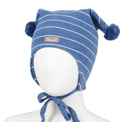 Striped windproof hat dark blue - Kivat