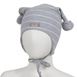 Striped windproof hat grey - Kivat