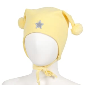 Windproof hat star yellow - Kivat